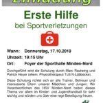 HSV- Schulung: Erste Hilfe bei Sportverletzungen